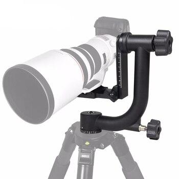 Professionele Aluminium Gimbal Statiefkop Voor Zware Telelens DSLR Camera  360 Panoramisch Swivel Sta