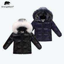 2018 Зимний пуховик, парка для девочек и мальчиков, пальто, 90% пуховики, детская одежда для снежной погоды, Детская верхняя одежда и пальто