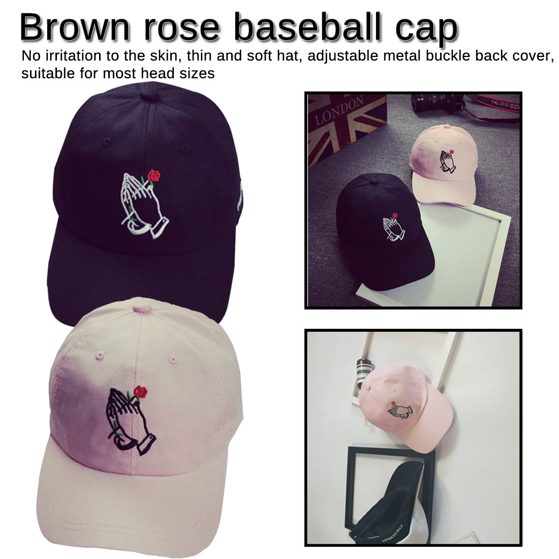 New Hot Fashion Unisex Baseball Caps Spring Summer Sun Hats For Women Solid Cap in Women 39 s Baseball Caps from Apparel Accessories