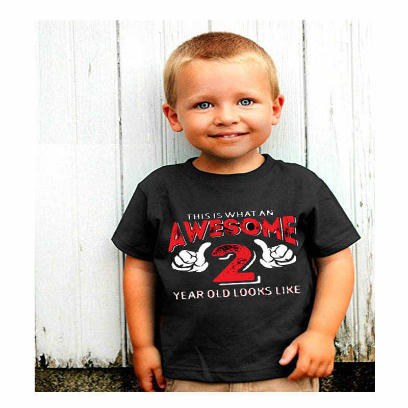 YSCULBUTOL Girl T Shirt Second Birthday 2 Year Old Baby