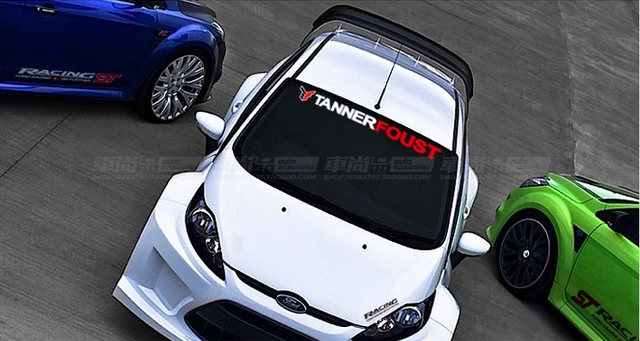 Front windowshield sports car decal sticker for ford focus carnival mondeo