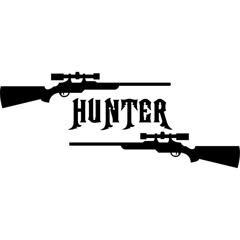 18X7.2CM GUN HUNTER Hunting Deer Buck Rifle Car Truck Vinyl Decal Sticker Car-styling S8-0094 ...