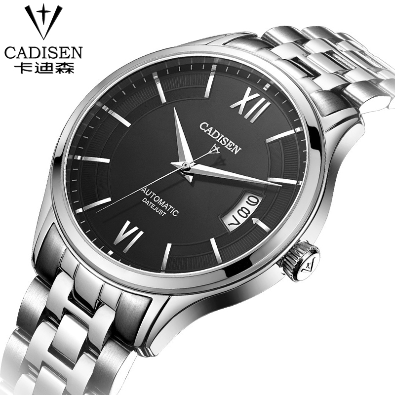 CADISEN fashion leisure and business men watch  multifunction calendar watch waterproof 100M High-end mechanical watch calendar 2017 a5 calendar handbook of efficiency for industry and commerce business notepad log can be customized logo