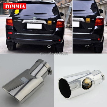 tommia High Quality T304 Stainless Steel Exhaust Muffler Tip For Toyota Highlander 2007-2015 Car Accessories