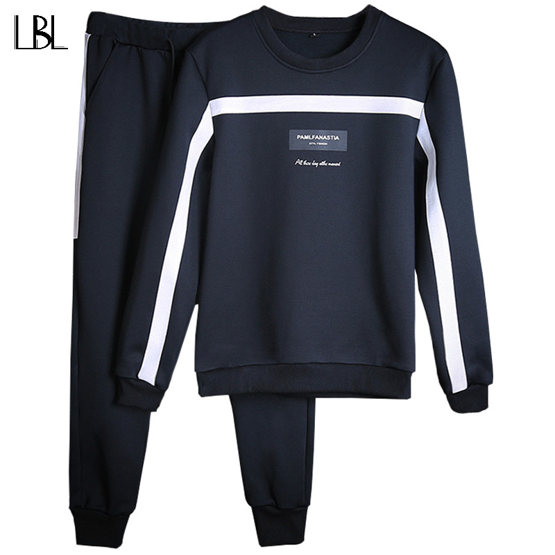 Tute Da Uomo Inverno 2018 Tuta Set Solido Sweat Suit Uomini Tute Set Coat + Pants Outwear Giacca SportsSuit e Sweatpant