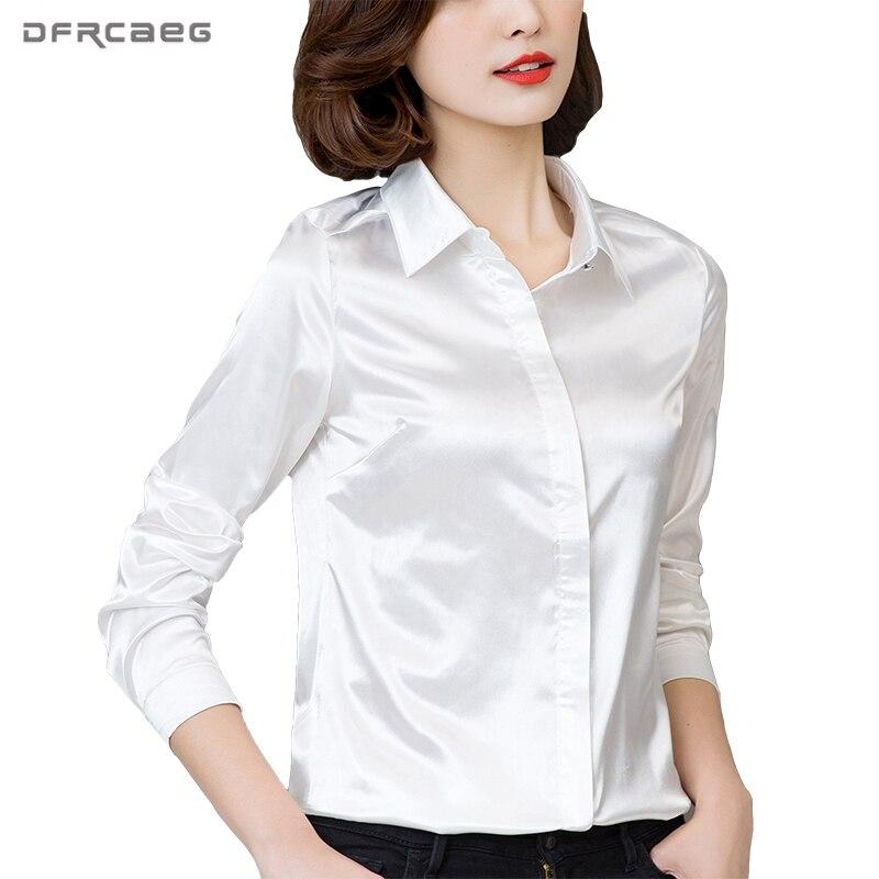 DFRCAEG Plus Size Dameskleding 2018 Nieuwe Mode Blouse Lange Mouw Blusa Feminina Lente Slanke Vrouwen Shirts 7 Kleuren Vrouwen Tops