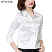 DFRCAEG Plus Size Women Clothing 2018 New Fashion Blouse Long Sleeve Blusa Feminina Spring Slim Women Shirts 7 Colors Women Tops