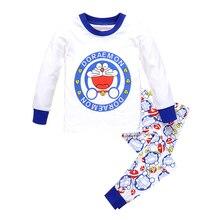Pajamas kids for girls boys baby underwear Children sleepwear pants kids sets long sleeves clothes cotton white cheap cartoon