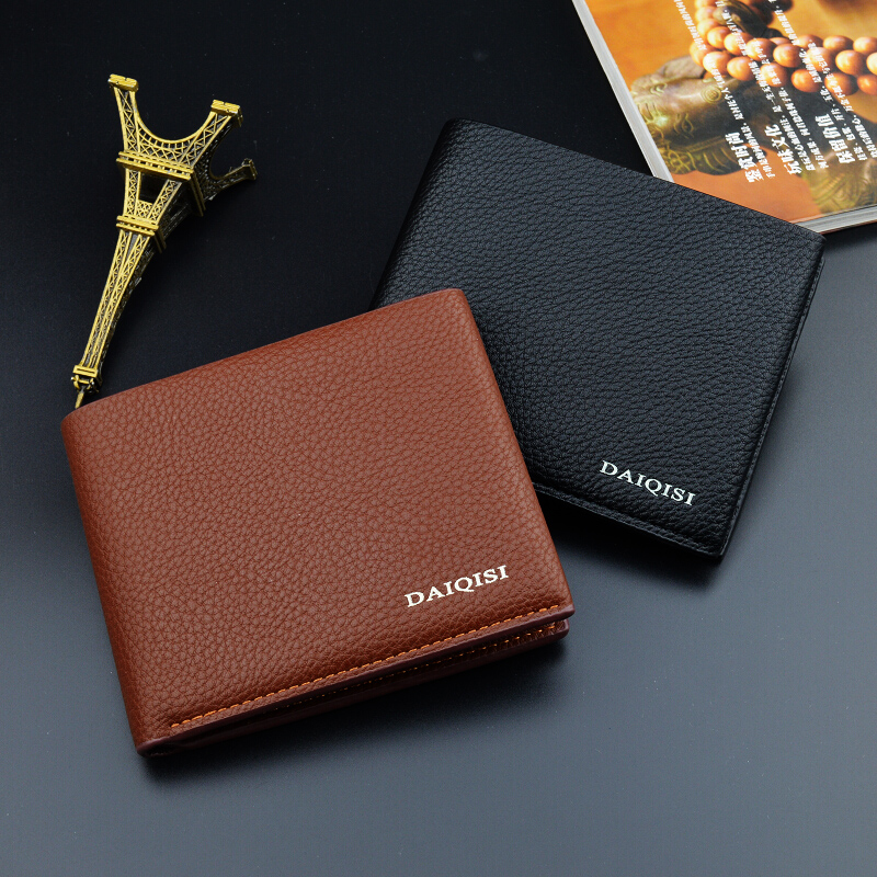 designer brand 2018 mens wallet Luxury quality wallets and purses fou men Pu leather Business wallet Small mini short wallet
