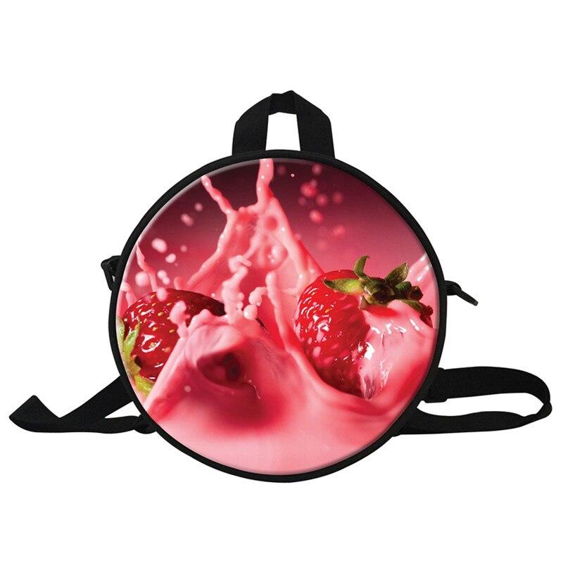 ᗛfruits Style Round Small School Bags For Kindergarten Children