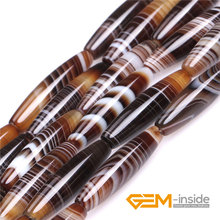 Natural Botswana Onyx sardonyx Agat Stone Beads DIY Rice Tube Loose Beads For Jewelry Making Strand 15 Inch Wholesale !