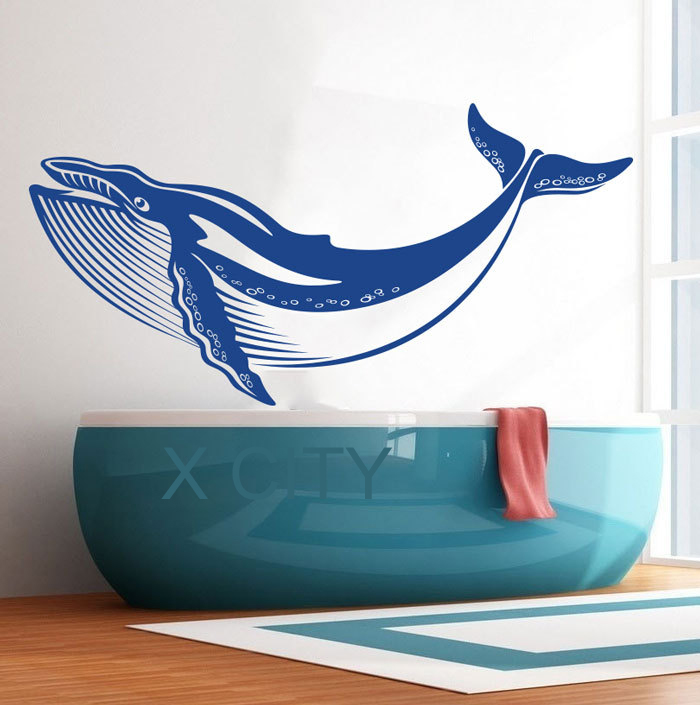 Ocean Whale Sea Animal Wall Art Vinyl Sticker Decal Nursery Decor Living Room Bedroom Home Interior Mural Stencil In Stickers From Garden On