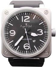 Новый стиль Для мужчин автоматические механические Ограниченная серия часы колокол авиации Для мужчин спортивные часы для дайвинга черный чехол BR01-92 черный резиновый