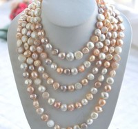 48inch Beautiful freshwater pearls and Shell Beads Necklace Pendant FREE SHIPPING