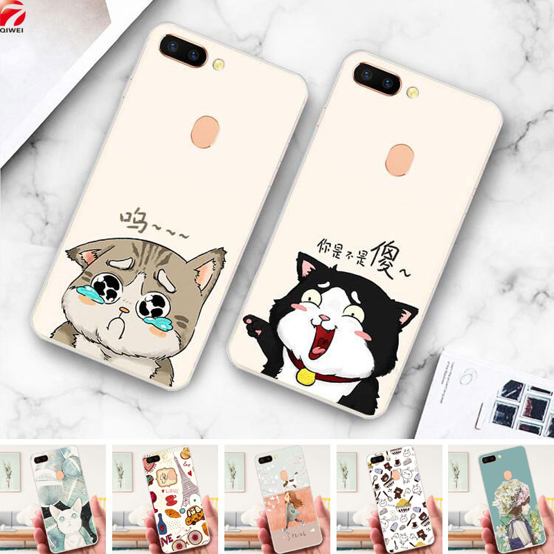 For OPPO R15 Case 6.28 Cute Cartoon Painted Soft TPU Back Cover For oppo r15 r 15 Silicone Mobile Phone Bag Cases Shell Coque