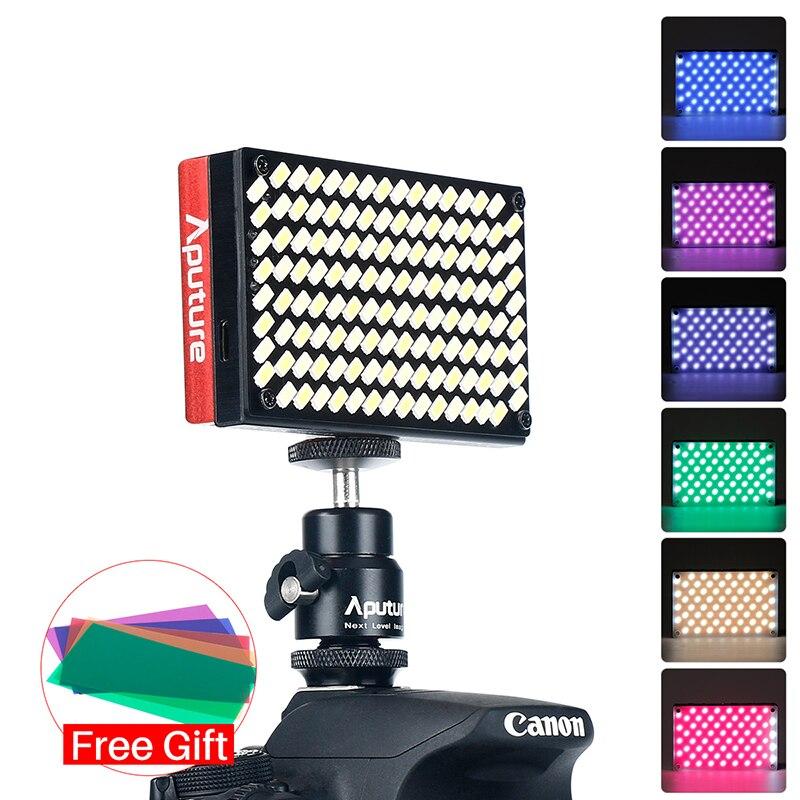 Aputure AL MX яркие карман LED лампа для видеокамеры 6500 К TLCI/CRI 95 + фото свет для sony A9 режиссер видеоблоге обновлен AL M9