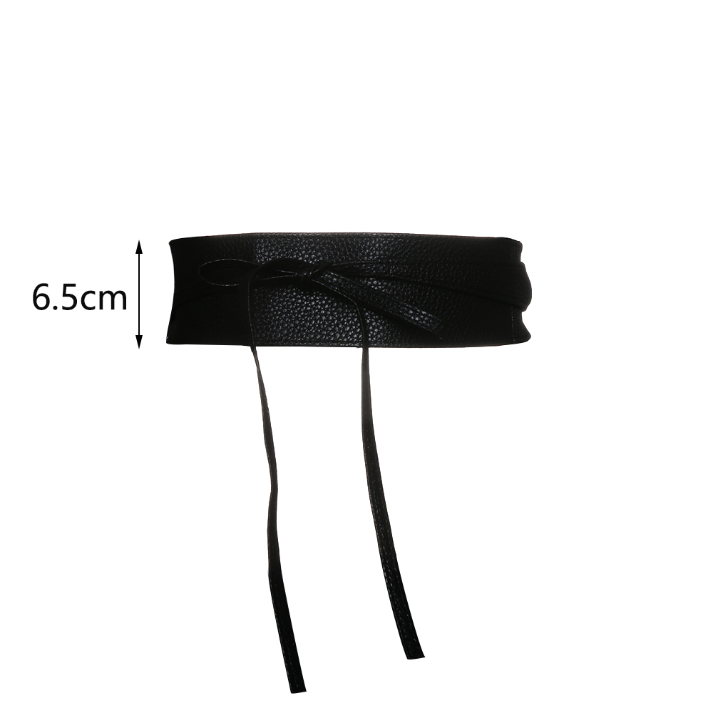 Fashion Metallic Color Soft Faux Leather Wide Belt 6