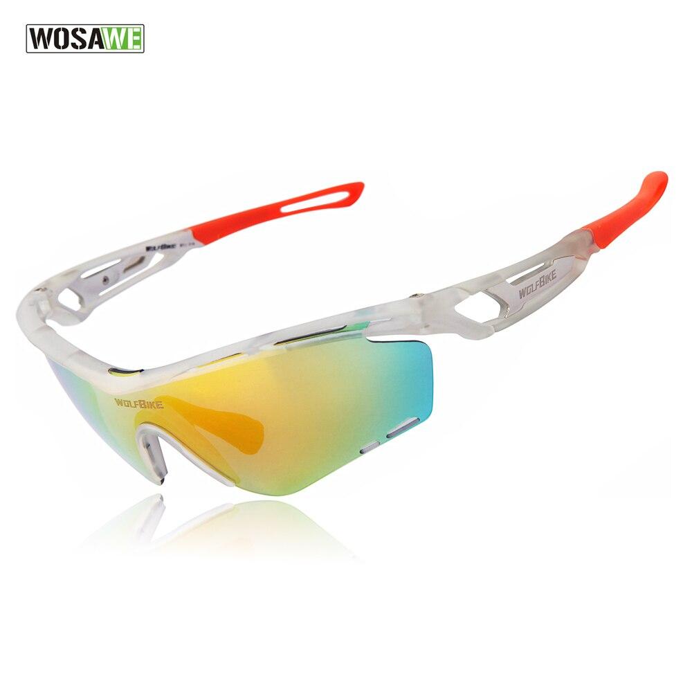 Prix pour WOSAWE Sport Polarisé Vélo Lunettes de Soleil Coupe-Vent UV400 Lunettes De Vélo Vélo lunettes de Soleil TR90 Lunettes Lunettes 3 Lentilles