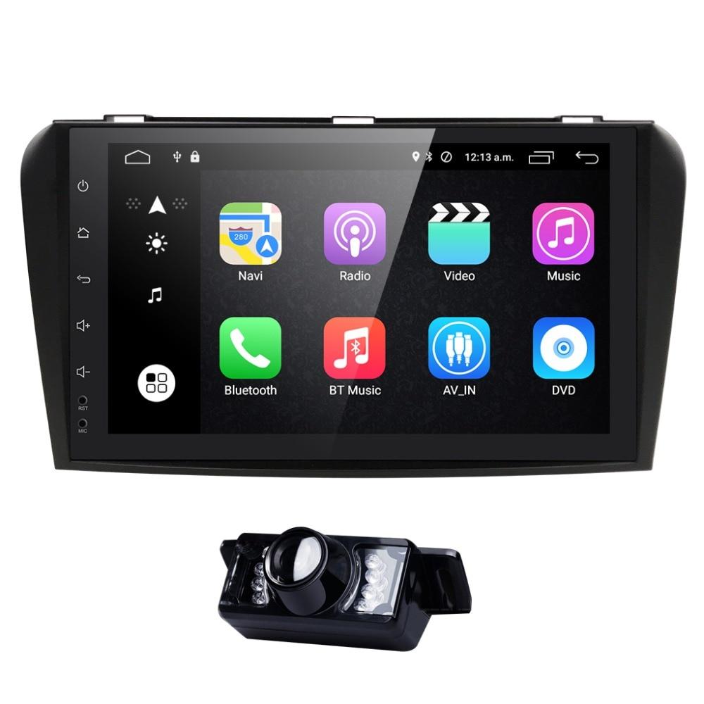 HIZPO 9 Android 6.0 Car radio tape record For Mazda 3 2004 2005 2006 2007 2008 2009 2 GB RAM+16GB ROM WIFI GPS stereo FM No dvd