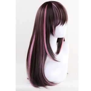 Image 3 - 60cm Kizuna AI Wig Cosplay Costume Youtuber A.I.Channel Straight Long Heat Resistant Synthetic Hair Wigs For Women + Wig Cap