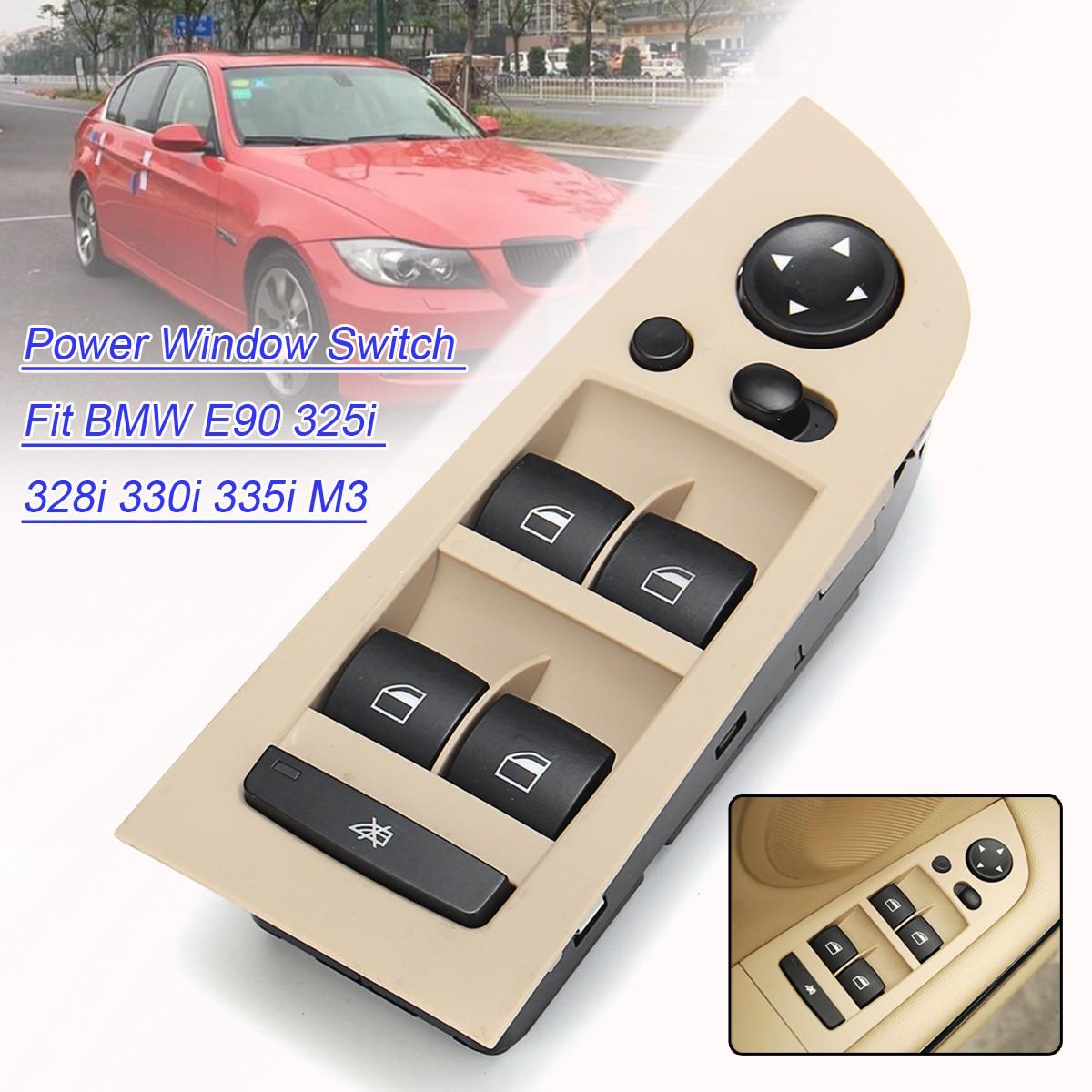 Autoleader Voiture Avant Gauche Fenêtre Commutateur de Commutation Unité Miroir Interrupteur Panneau de contrôle Unité avec Cadre pour BMW Série 3 E90 M3