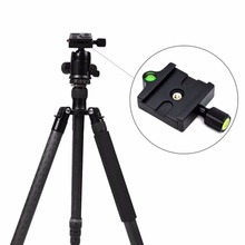 Professional KZ-20 Camera Tripod Monopod Quick Release Clamp Adapter Aluminum Plate Accessories
