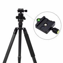 лучшая цена Professional KZ-20 Camera Tripod Monopod Quick Release Clamp Adapter Aluminum Quick Release Plate Camera Accessories