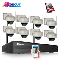 ARSECUT 8CH 960P Full HD NVR Kit Array 960P HD Home Wireless Security Camera System CCTV