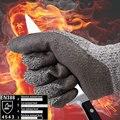 Nmsafety alta calidad estándar del ce nivel 5 anti-corte resistente al corte guantes de trabajo