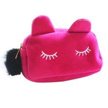 DHBH-Cartoon Storage Case Travel Makeup Pouch Cosmetic Bag (Pink)