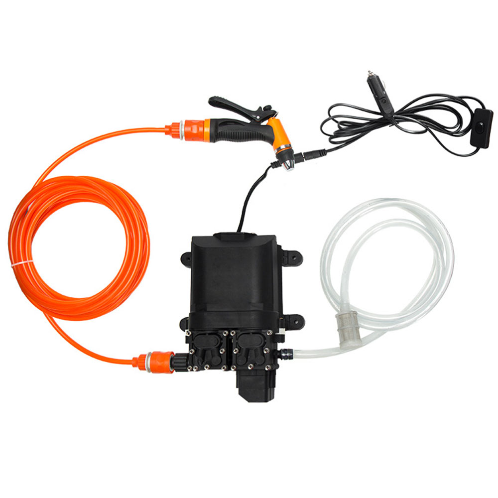 DC 12V 160W Car Washer Pump Portable Washer Spray Washing Machine Self-Priming Kit Tool High Pressure Pump Nozzle Water
