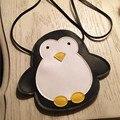 HOT Child Kids Girls PU Penguin Decorative Package Snacks Bags Handbag Messenger Shoulder Bag Cross Body Pocket Satchel Handbags