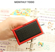 Creative stationery  weekly / monthly / to do list  stamps,  Hand account notebook  DIY seal