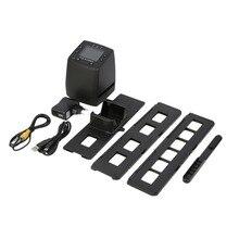 Сканер фильм цифровой преобразует USB Отрицательные слайды фото сканирования высокой Разрешение Портативный цифровой преобразователь фильм 2,4 дюймов ЖК-дисплей