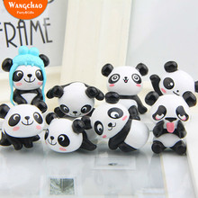 8pcs/lot Lovely Resin Panda Model Rustic Wedding Decoration Happy Birthday Party House Room Table Garden Decora DIY Photo Props