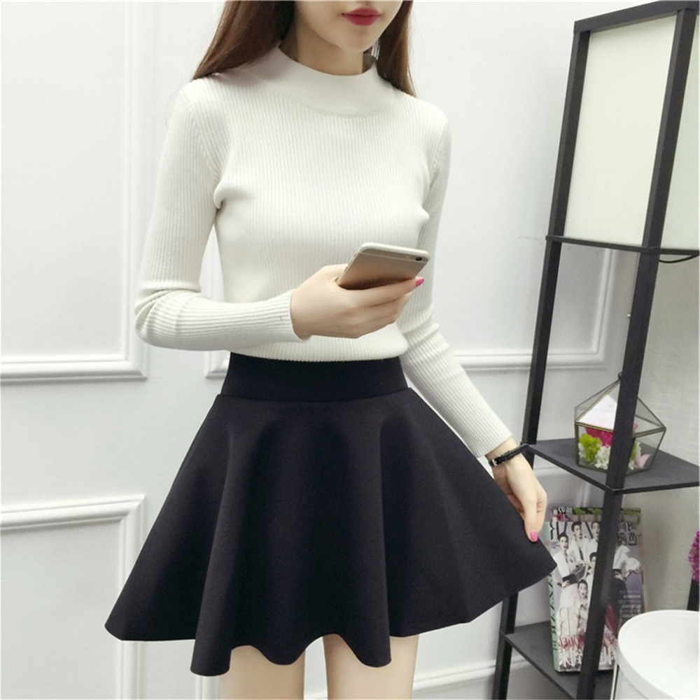 9330ca6e0 Detail Feedback Questions about High waisted Solid Color Female Mini ...