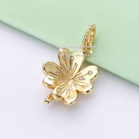 2019 NEW Spring S925 Sterling Silver Golden Flowers CZ Charms Beads Fit European DIY Jewelry Bracelets & Necklaces