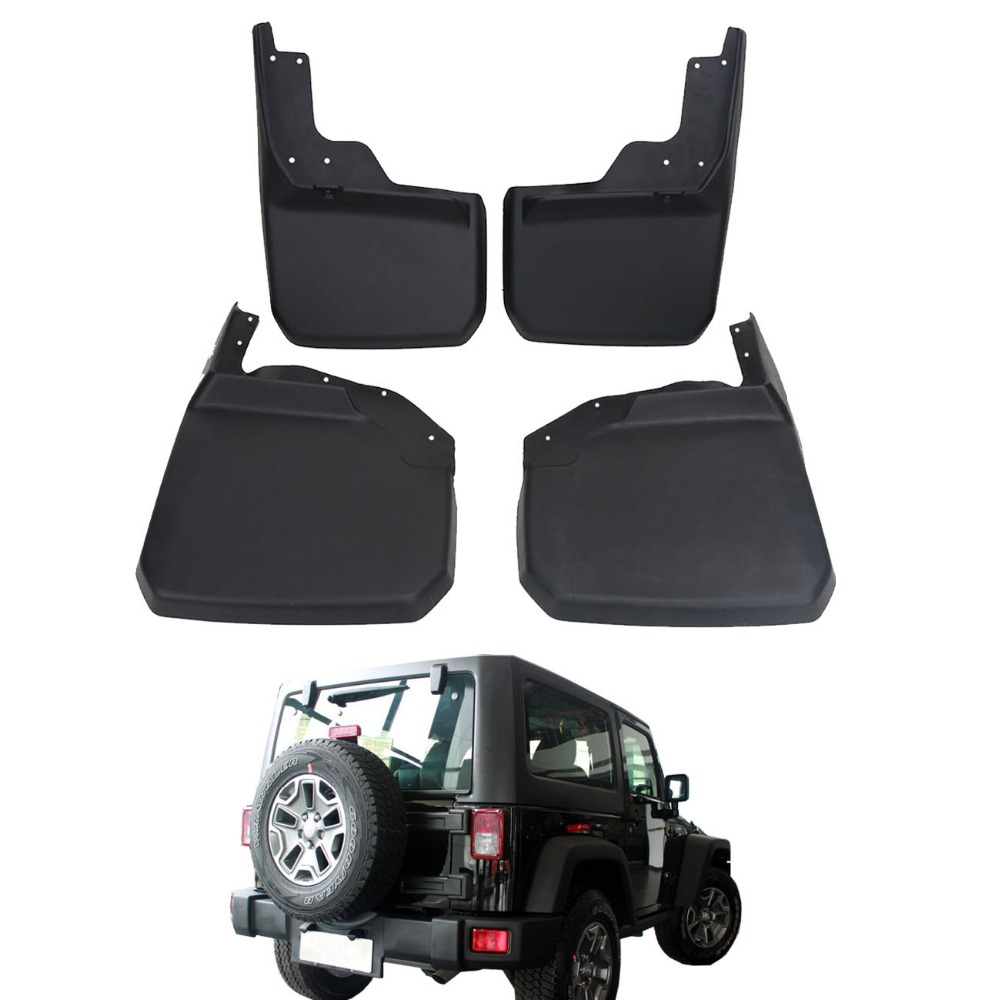 Car Exterior Parts Front Rear Mud Flaps Mudguards For Jeep Wrangler Bumper Jk Unlimited 2007 2017 Molded Splash Guards Ra001 In From Automobiles
