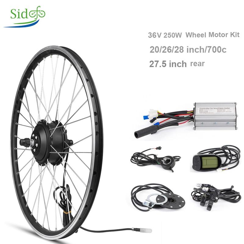 36 V 250 W contrôleur électrique vélo Kit de Conversion vélo route vélo moyeu moteur vélo moteur roue arrière LCD5 affichage BLDC vis