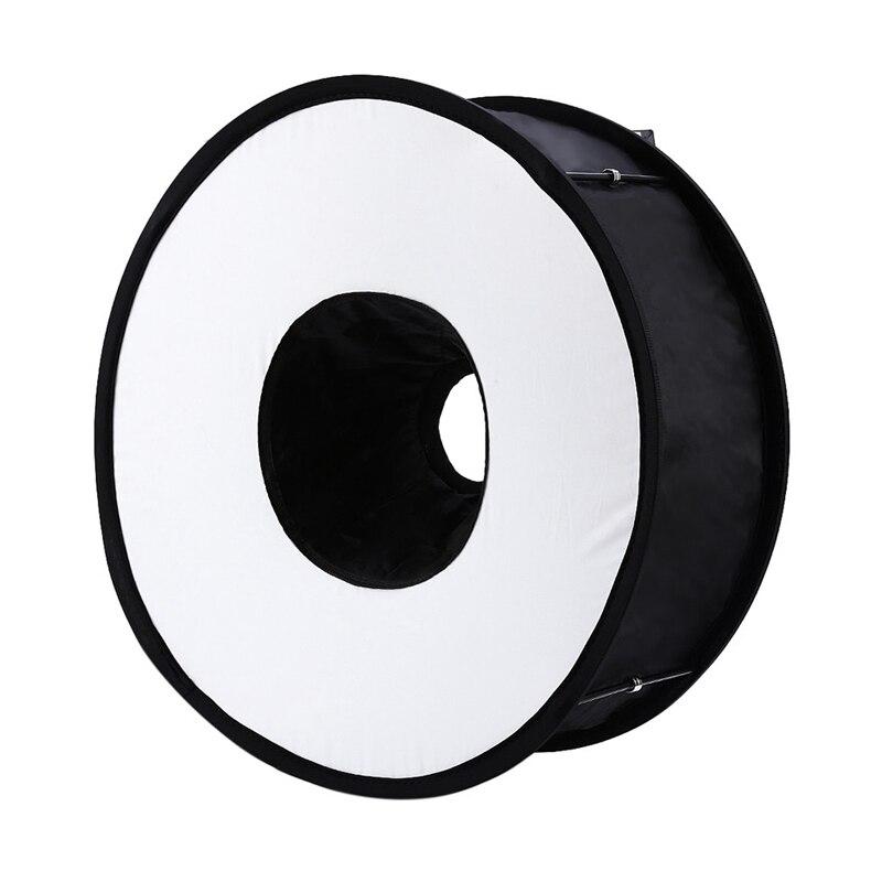 Foldable Speedlight Softbox – Ring Flash Diffuser