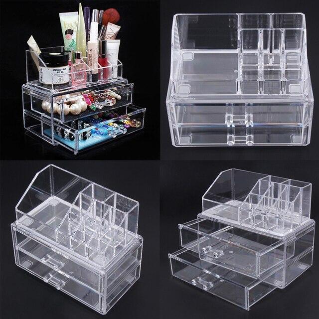 b5999a281 Organizador de almacenamiento de maquillaje cosmético acrílico cajón de  maquillaje estuche de almacenamiento de lápiz labial