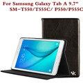 Мода Кожа Tablet Чехол Для Samsung Galaxy Tab A 9.7 Inch SM T550 T555C T551 Защитной Оболочки Для P550/P555C + Подарок