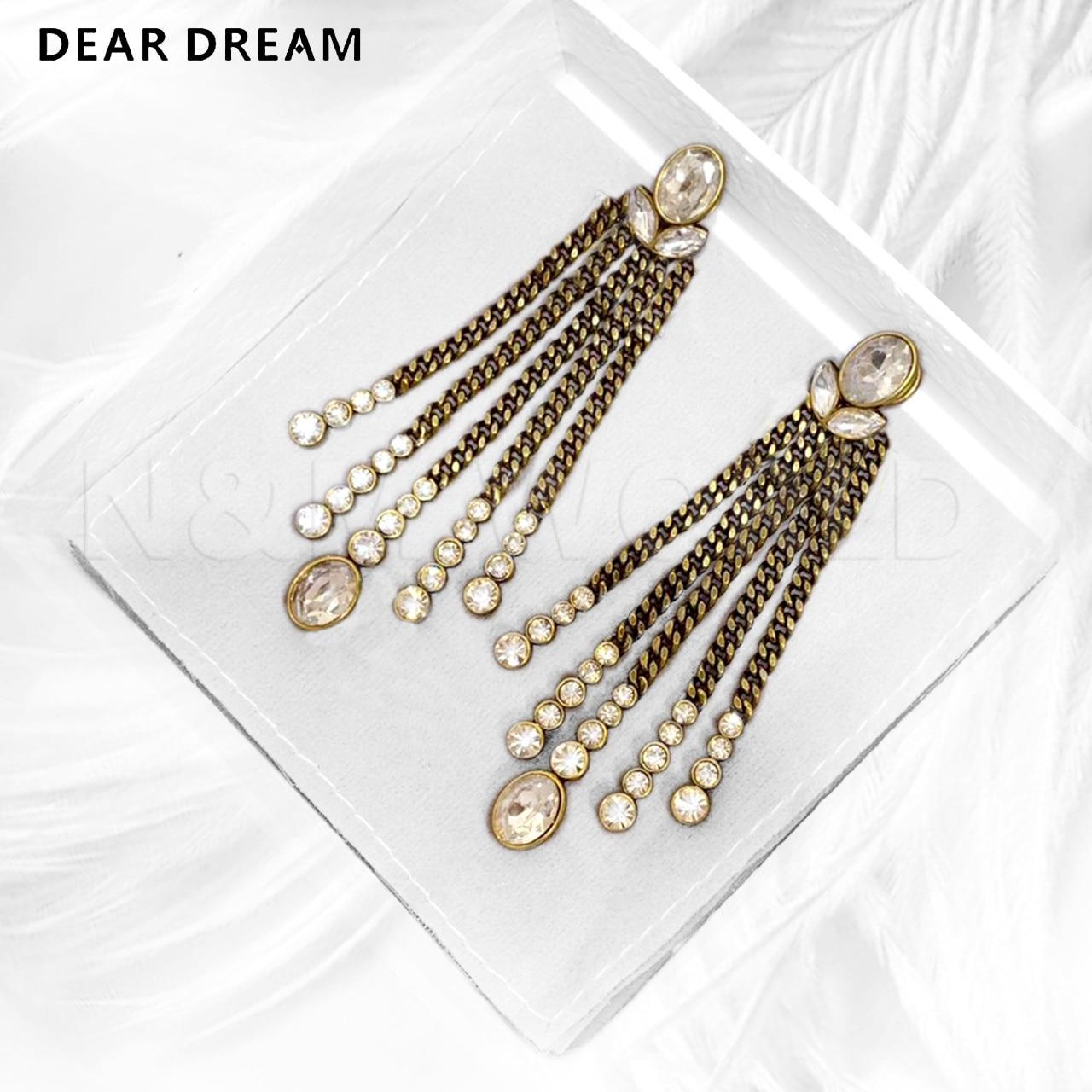 Oeil de cheval cubique Zircon ange chaîne gland boucles d'oreilles 2019 bijoux de mode pour les femmes déclaration bijoux exquis cadeau