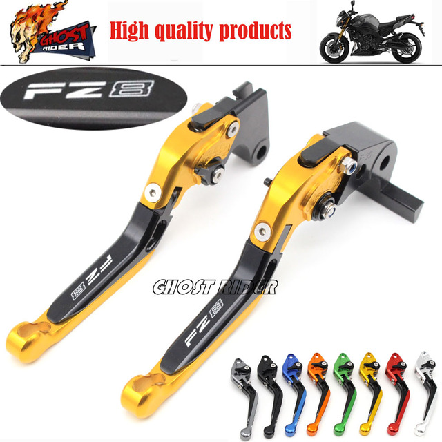 For YAMAHA FZ-8 FZ8 2010 2011 2012 2013 2014 Motorcycle Accessories CNC Aluminum Extendable Brake Clutch Levers Extending Gold