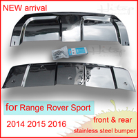 2014 2015 2016 Range Rover Sport Stainless Steel Skid Plate Bumper Protector 2pcs Set Quality Supplier