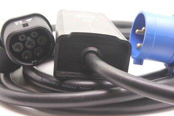 Przenośny EVSE 8A 10A 16A niebieski CEE IEC62196 typ 2 z 5M kablem do elektrycznej ładowarka samochodowa krajowa ładowarka EV