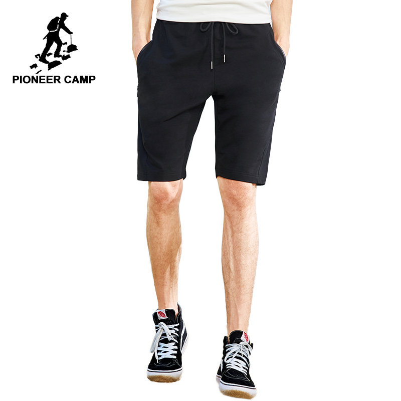 Пионерский лагерь Новые повседневные шорты брендовая мужская одежда однотонная летняя с эластичной талией укороченные штаны стрейч берму...