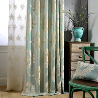 Jacquard garden style living room curtain for bedroom, Kitchen, lace sheer curtains for interior design (single panel #LRJY1801)