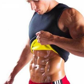 Men Waist Gym Neoprene Vest Sauna Ultra Thin Sweat Shirt Body Shaper Slimming Corset 1