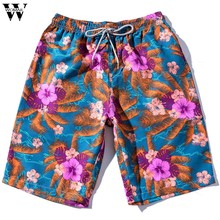 Womail shorts Men NEW Summer Casual New Style Fashion Casual Print Loose Beach Surfing Swimwear Short Gift Couples 2019 M27(China)